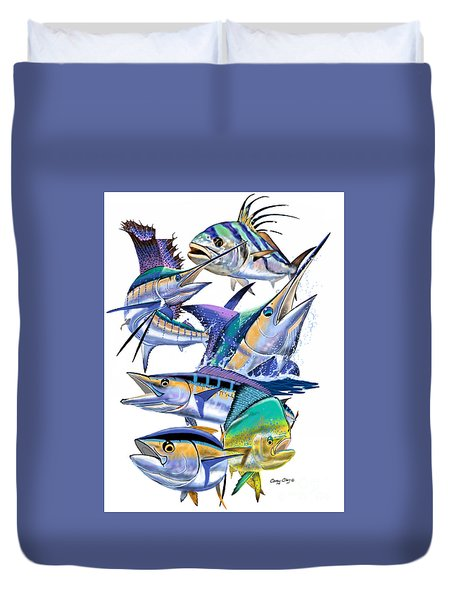 Pacific Gamefish  Duvet Cover by Carey Chen