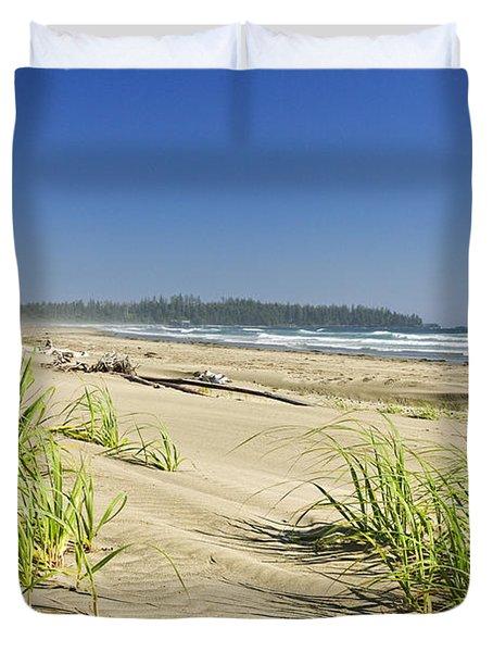 Pacific ocean shore on Vancouver Island Duvet Cover by Elena Elisseeva