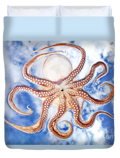 Pacific Octopus Duvet Cover by Mike Raabe