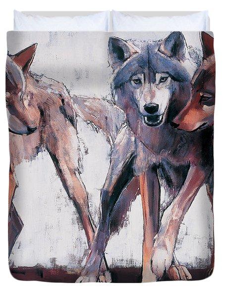 Pack Leaders Duvet Cover by Mark Adlington