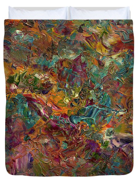 Paint number 16 Duvet Cover by James W Johnson