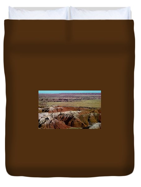 Painted Desert In Arizona Duvet Cover by Ruth  Housley