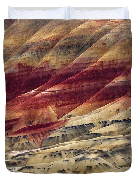 Painted Hills Contour Duvet Cover by Mike  Dawson