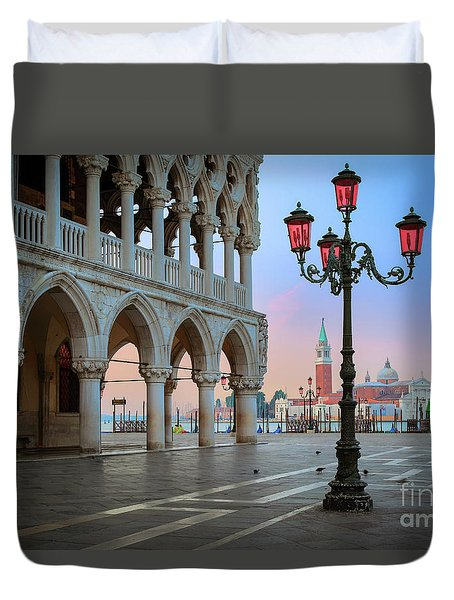 Palazzo Ducale Duvet Cover by Inge Johnsson