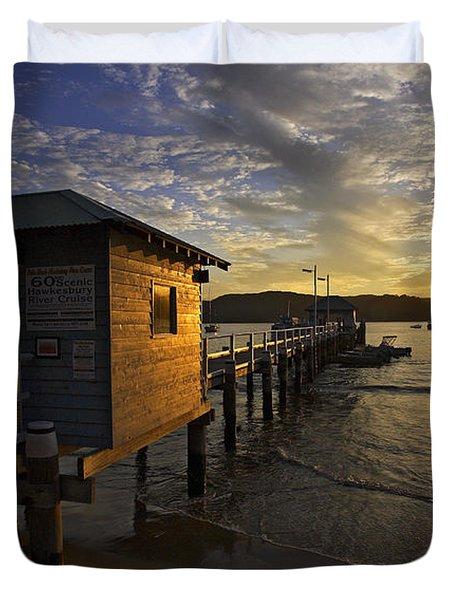 Palm Beach Sunset Duvet Cover by Avalon Fine Art Photography