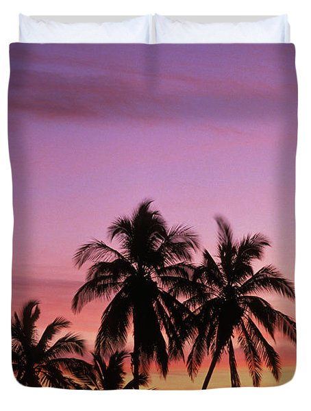 Palm Cluster Duvet Cover by Allan Seiden - Printscapes