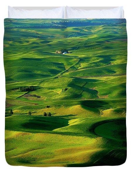 Palouse Morning Duvet Cover by Mike  Dawson