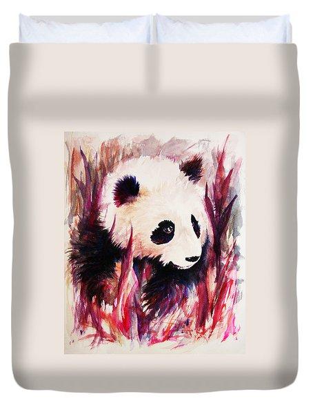 Panda Duvet Cover by Rachel Christine Nowicki