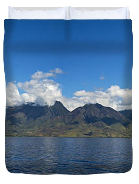 Panoramic West Maui Duvet Cover by Dave Fleetham - Printscapes