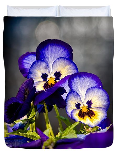 Pansies Duvet Cover by Christopher Holmes