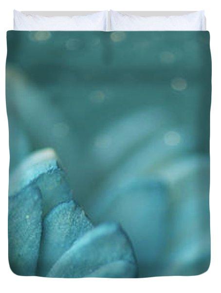 Paper Flower Duvet Cover by Lisa Knechtel