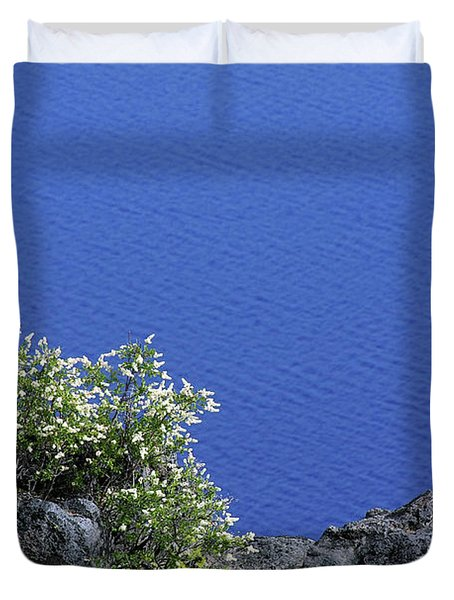 Paradise For Backpackers - Crater Lake In Crater National Park - Oregon Duvet Cover by Christine Till