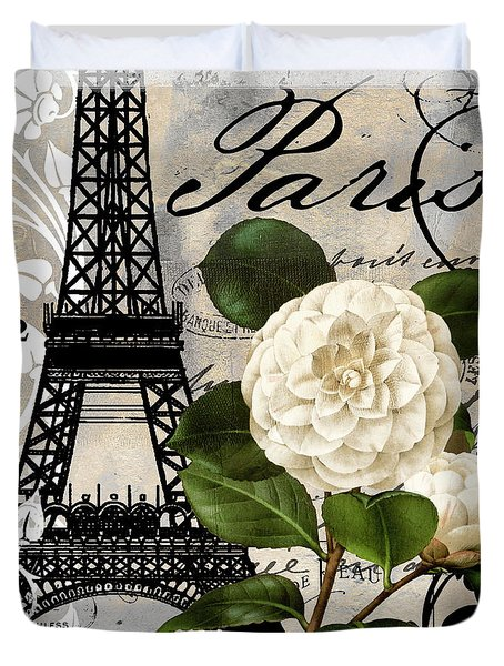 Paris Blanc I Duvet Cover by Mindy Sommers