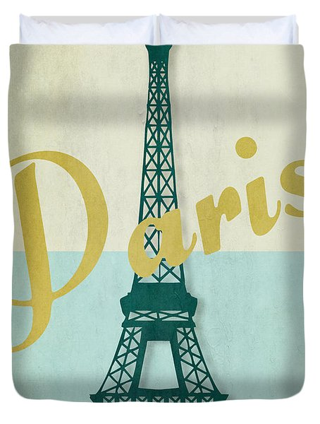 Paris City Of Light Duvet Cover by Mindy Sommers