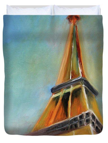 Paris Duvet Cover by Jutta Maria Pusl