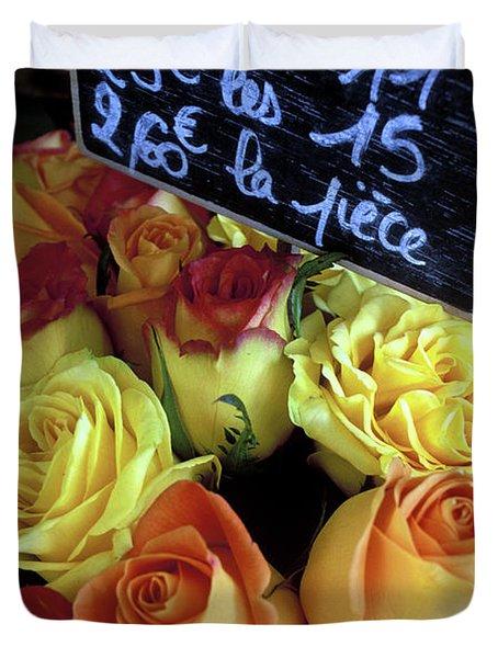 Paris Roses Duvet Cover by Kathy Yates