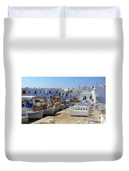 Paros Duvet Cover by Christo Christov