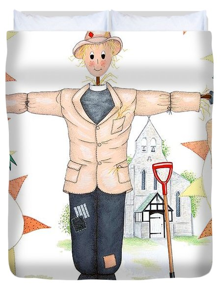 Parson Scarecrow Duvet Cover by Sandra Moore