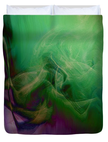Part Of Rapture Duvet Cover by Linda Sannuti
