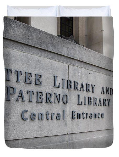 Paterno Library At Penn State  Duvet Cover by John McGraw
