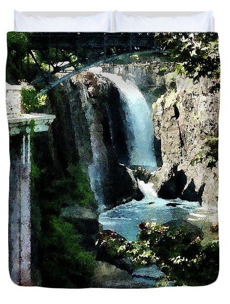 Paterson Falls Duvet Cover by Susan Savad