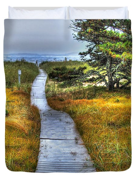 Path To Bliss Duvet Cover by Tammy Wetzel