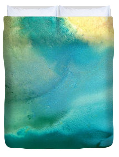 Pathway To Zen Duvet Cover by Sharon Cummings