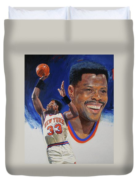 Patrick Ewing Duvet Cover by Cliff Spohn