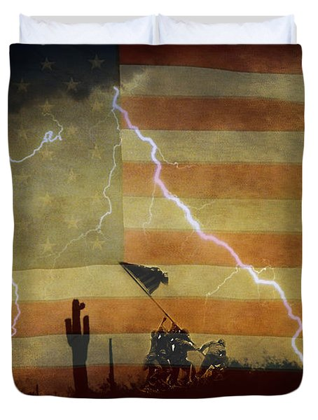 Patriotic Operation Desert Storm Duvet Cover by James BO  Insogna