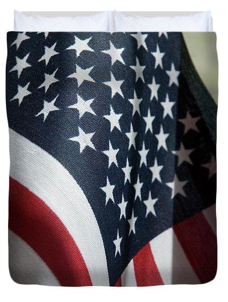 Patriotism Duvet Cover by Jerry McElroy