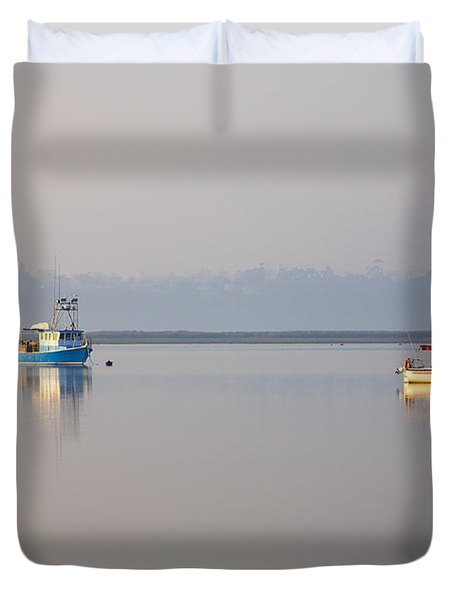 Peace At Anchor Duvet Cover by Mike  Dawson