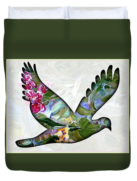 Peace For Peace Duvet Cover by Mindy Newman