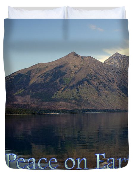 Peace On Earth 1 Duvet Cover by Marty Koch