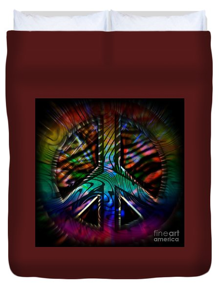 Peace Series #2 Duvet Cover by WBK