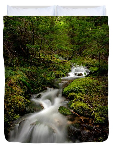 Peaceful Stream Duvet Cover by Mike Reid