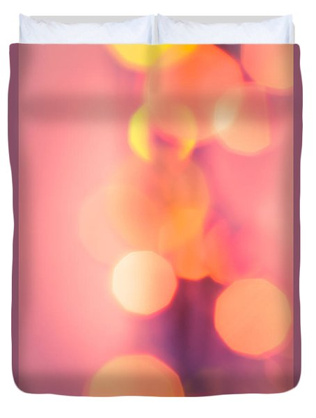 Peach Melba Duvet Cover by Jan Bickerton