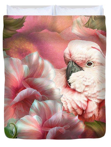 Peek A Boo Cockatoo Duvet Cover by Carol Cavalaris