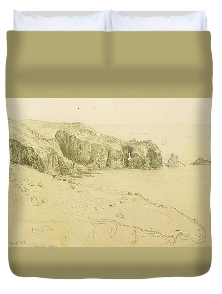 Pele Point, Land's End Duvet Cover by Samuel Palmer