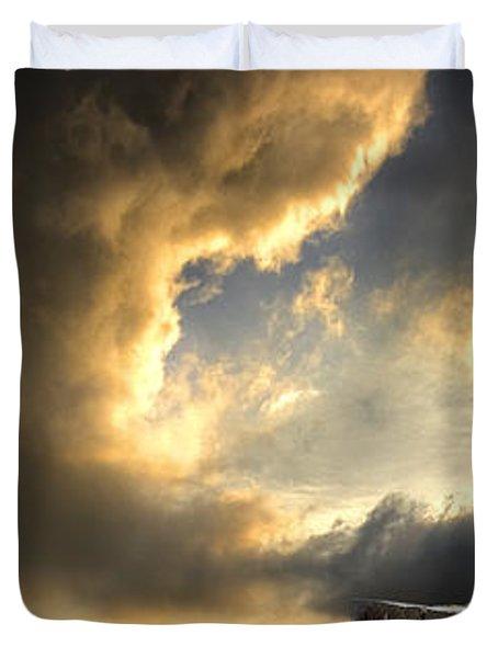 Pelican Evening Duvet Cover by Meirion Matthias