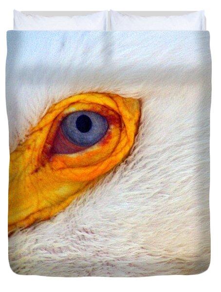 Pelican's Eye Duvet Cover by Marty Koch