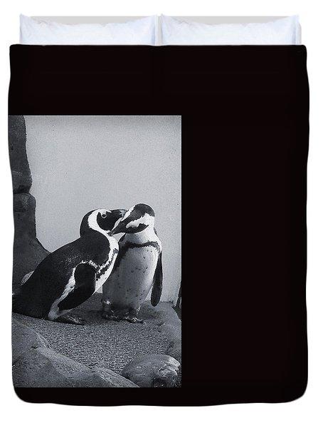 Penguins Duvet Cover by Sandy Taylor