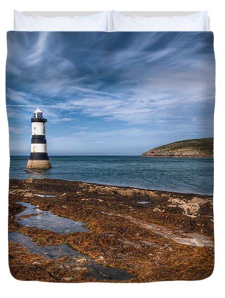 Penmon Lighthouse Duvet Cover by Adrian Evans