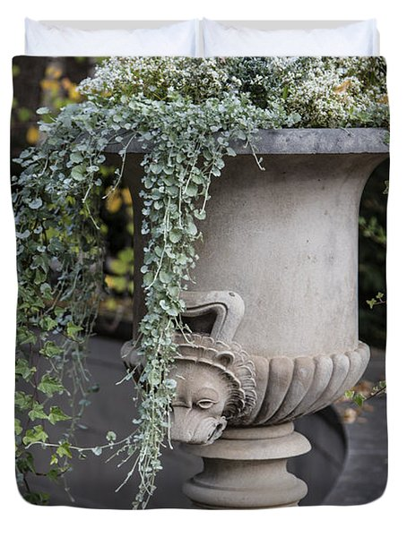Penn State Flower Pot  Duvet Cover by John McGraw