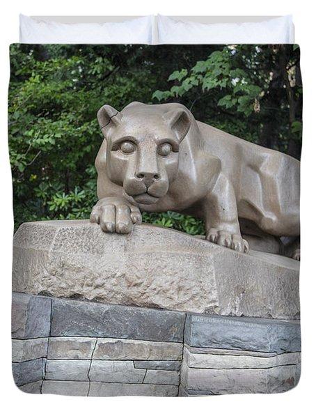 Penn Statue Statue  Duvet Cover by John McGraw