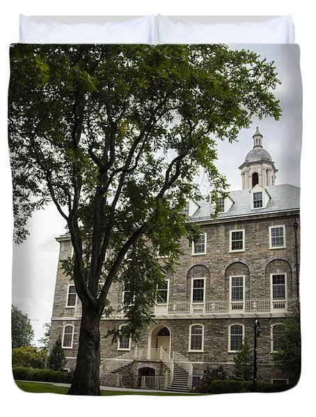 Penn State Old Main From Side  Duvet Cover by John McGraw