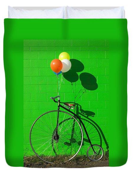 Penny Farthing Bike Duvet Cover by Garry Gay