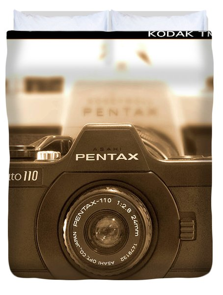 Pentax 110 Auto Duvet Cover by Mike McGlothlen