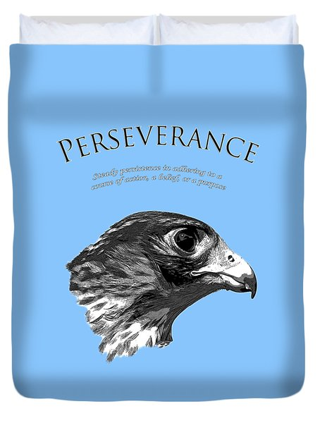 Peregrine Falcon Tashunka Duvet Cover by Christina Rollo