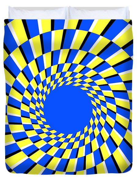 Peripheral Drift Illusion Duvet Cover by SPL and Photo Researchers