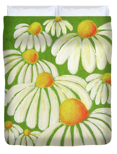 Perky Daisies Duvet Cover by Oiyee  At Oystudio
